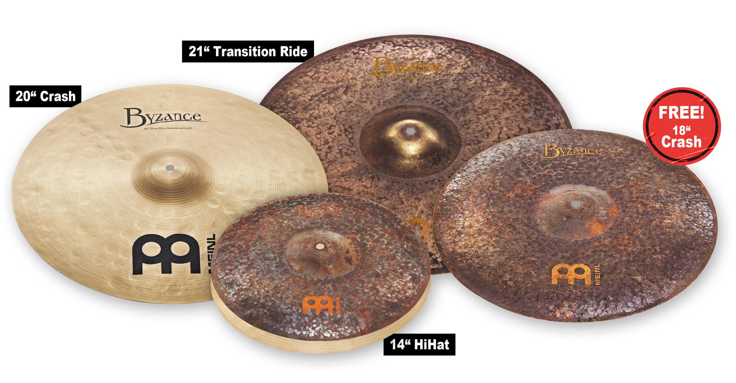 Mike Johnston Byzance Cymbal Set
