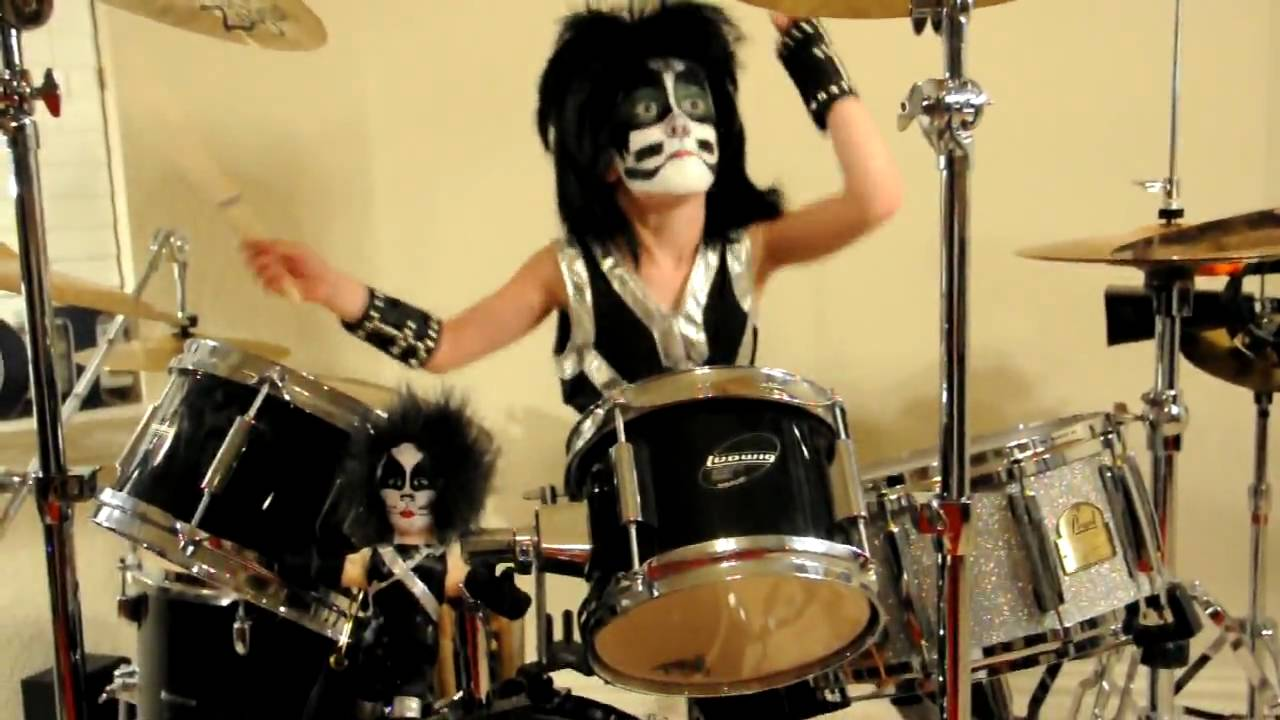 Kid Drummer rocks with KISS