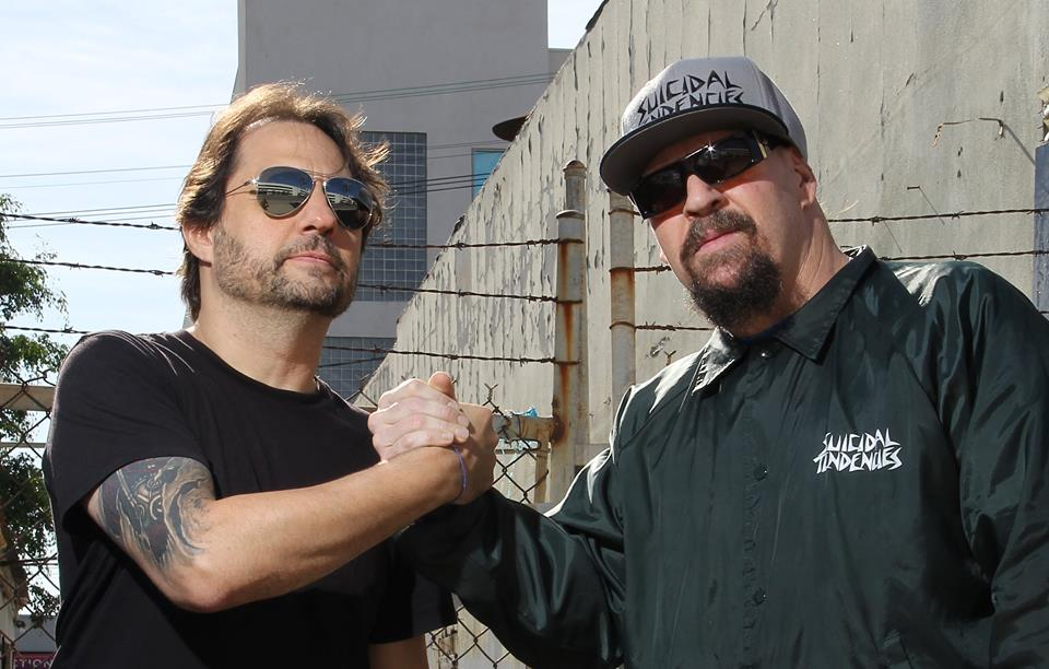 Dave Lombardo in the studio with Suicidal Tendencies