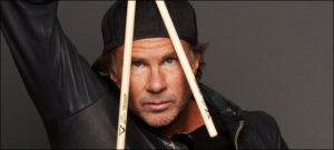 Chad smith performs on the street