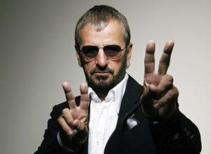 "Ringo Starr and his precious copy of ""White Album"""