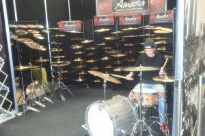 Amedia Stand at London Drum Show 2016