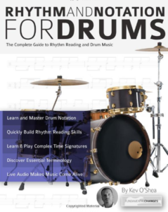 """Take a look at """"Rhythm and Notation for Drums"""" book"""