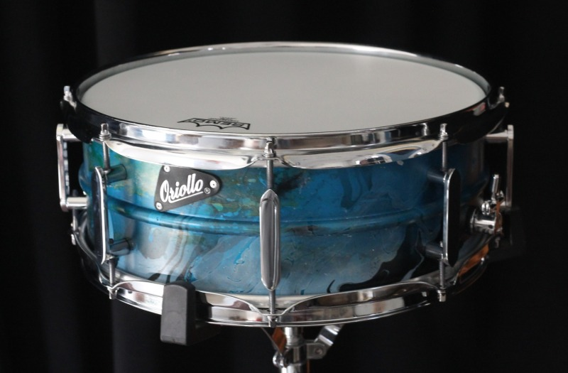 Snare drums and drum kits by Oriollo