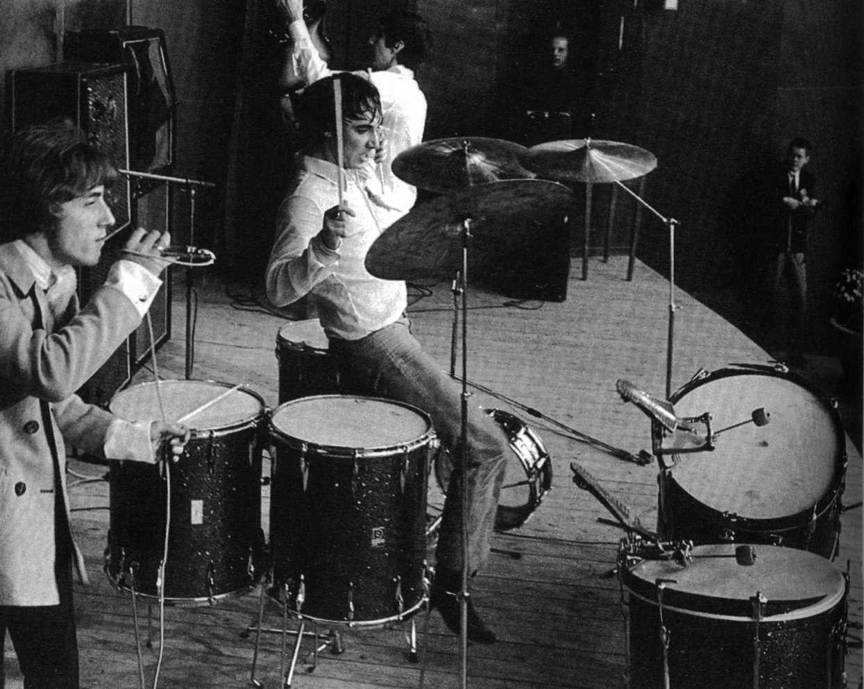 Drummer Keith Moon live with The Who