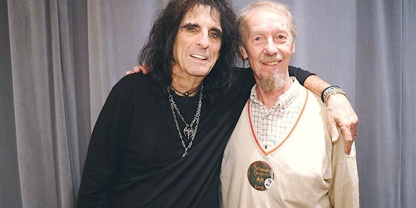 "Pentti ""Whitey"" Glan and Alice Cooper"