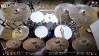 Radek Owczarz tests a Zildjian K Custom Special Dry Set