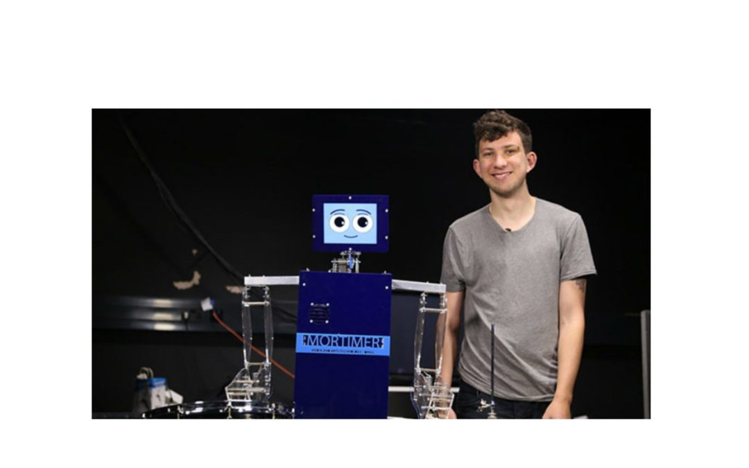 Robot Drummer With Social Media Skills