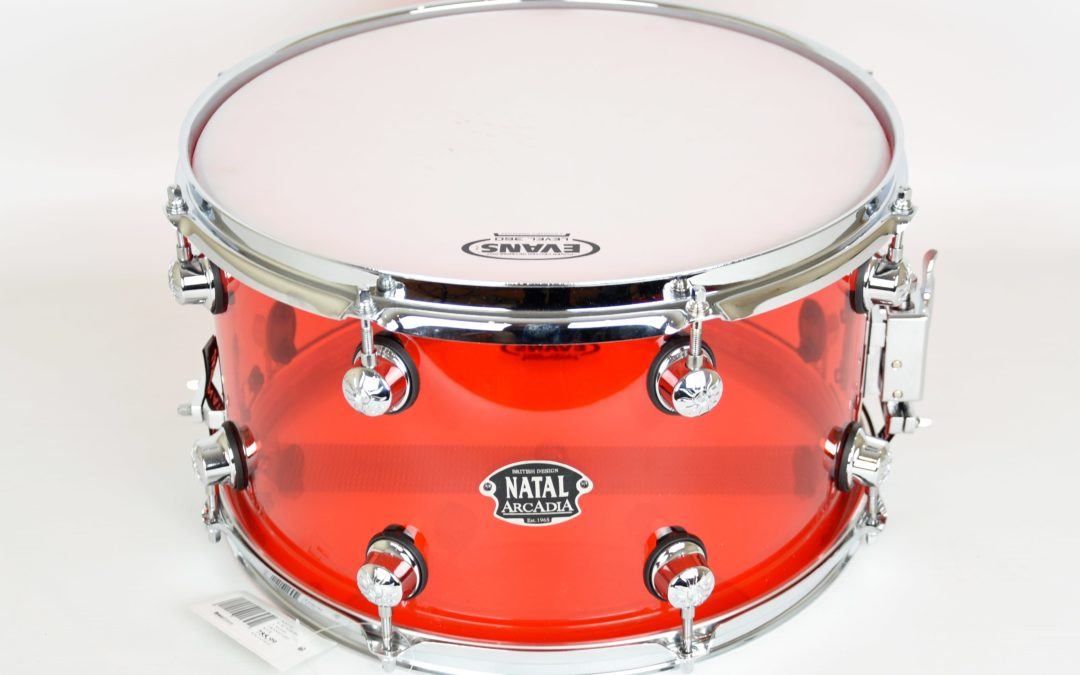 Beatit test: Natal Arcadia Transparent Red 14×8 Snare Drum