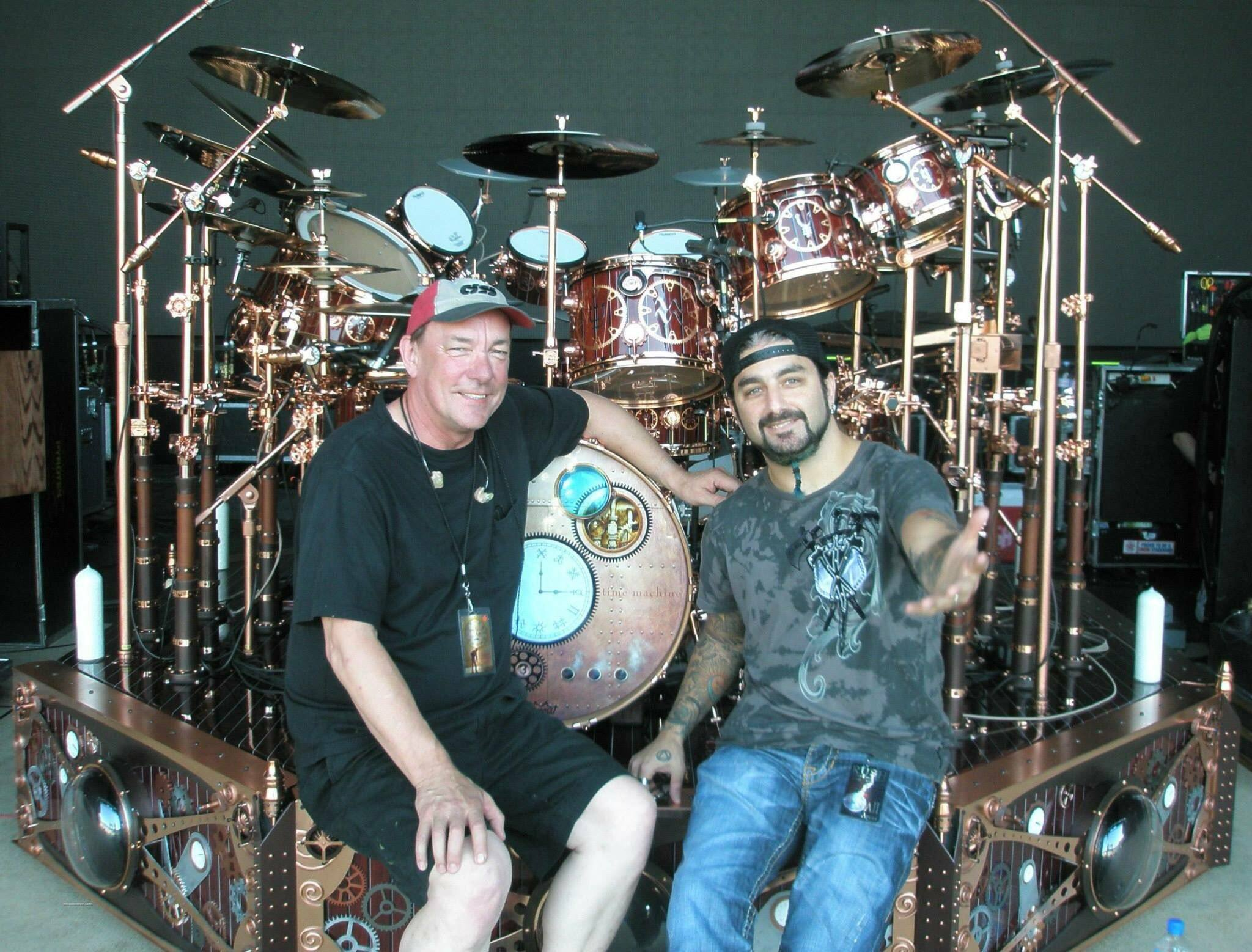 Neil Peart and Mike Portnoy