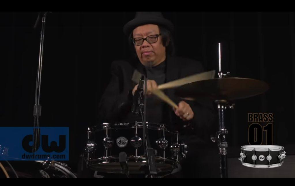drummer Curt Bisquera and DW snares