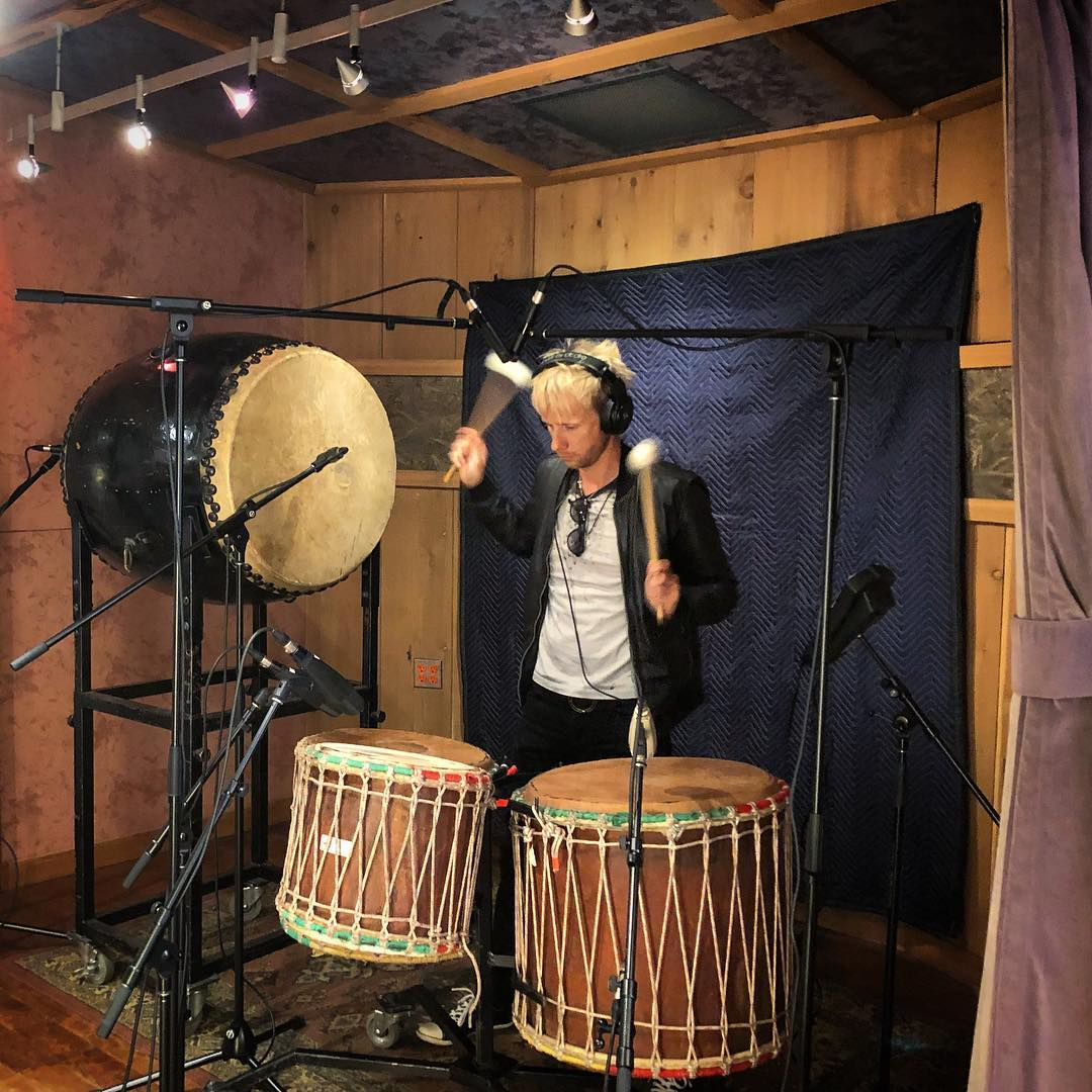 Dominic Howard in studio