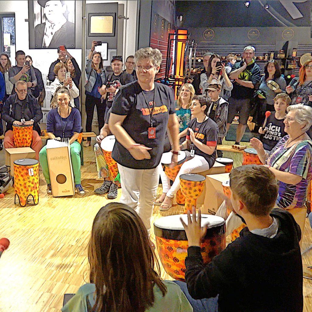 Ricarda Raabe drum circle Meinl Percussion Festival 2018