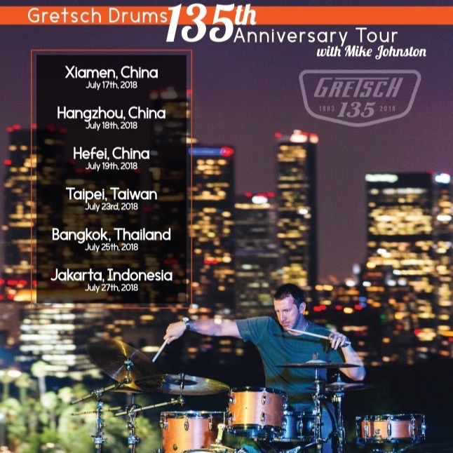 Mike Johnston To Headline Gretsch 135th Anniversary Clinic Tour