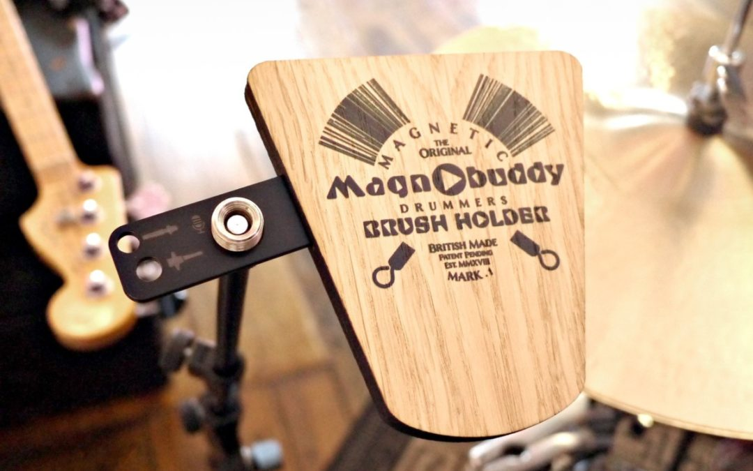 Magnobuddy – The world's first magnetic drummers brush holder