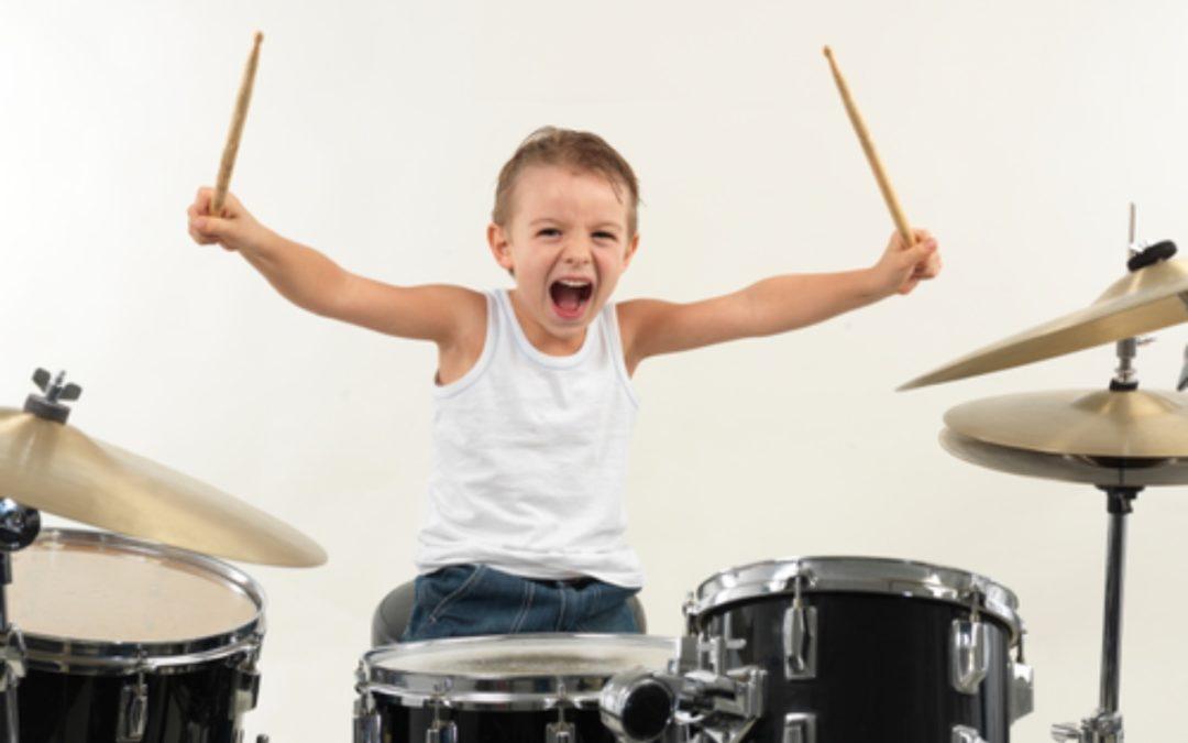 Drumming and autistic children