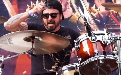 "Dave Grohl jumped behind the drums during ""Ride for Ronnie"""