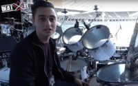 Nic Collins presents his drum kit on Phil Collins' 'Still Not Dead Yet Live' World Tour