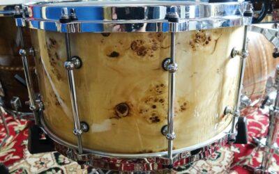 Vintage BeatIt Test: 14″x 8″ Keller Maple Custom Exotic snare drum