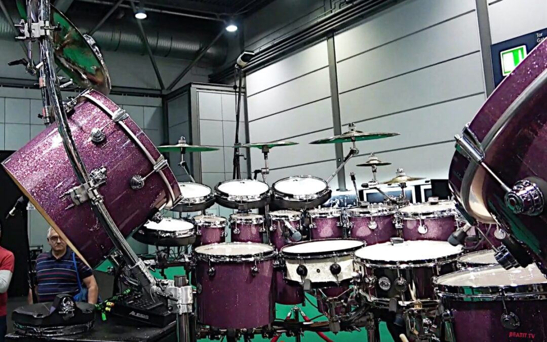 Gary Wallis presents his drum kit