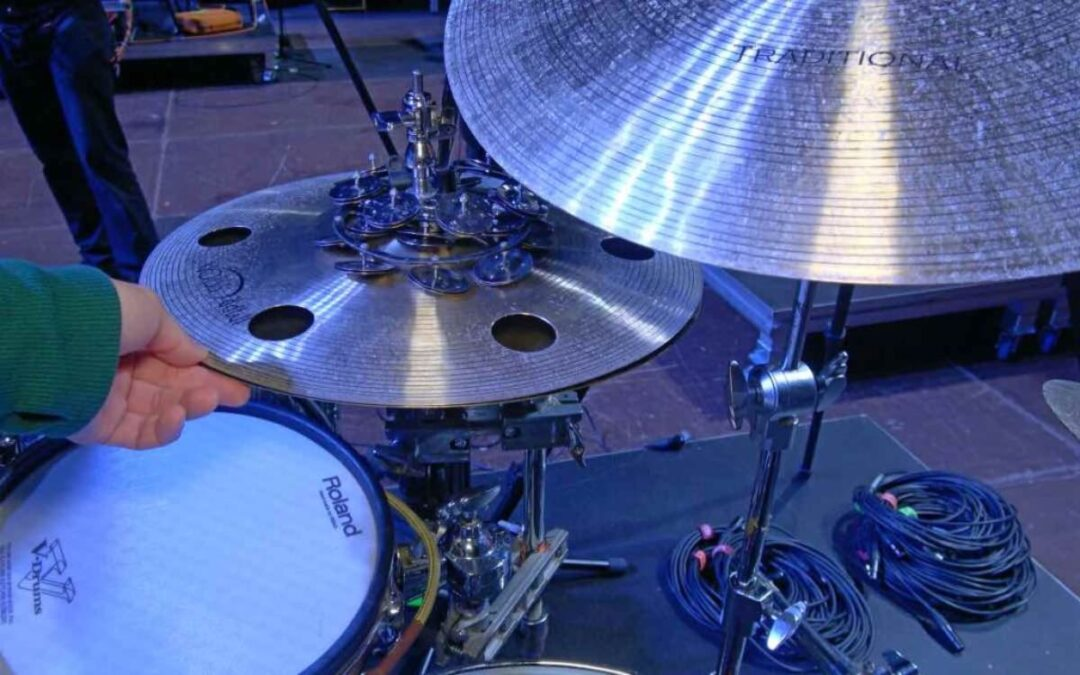 "Michał ""Malina"" Maliński presents his drum kit"