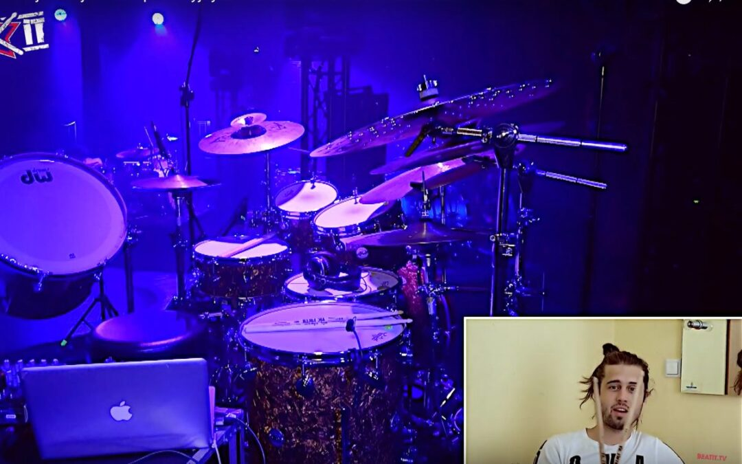 Dali Mraz presents his drum kit