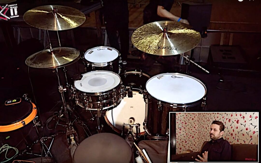 Thomas Fietz presents his drum kit