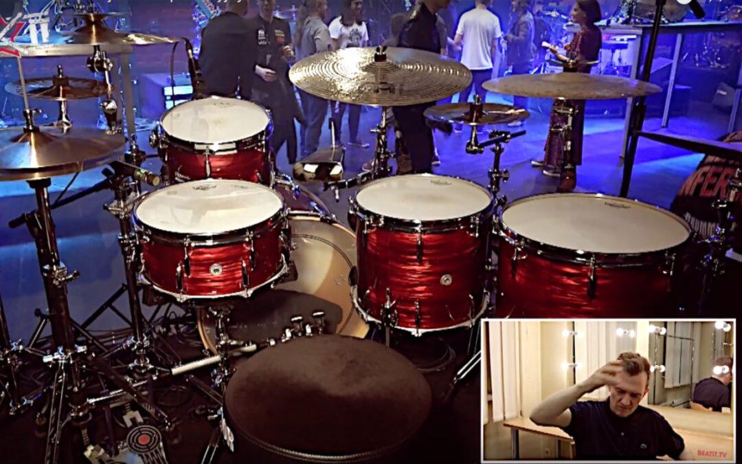 Jost Nickel presents his drum kit