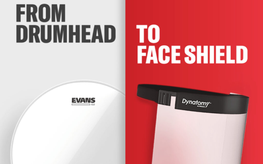 Evans switch to producing protective face shields