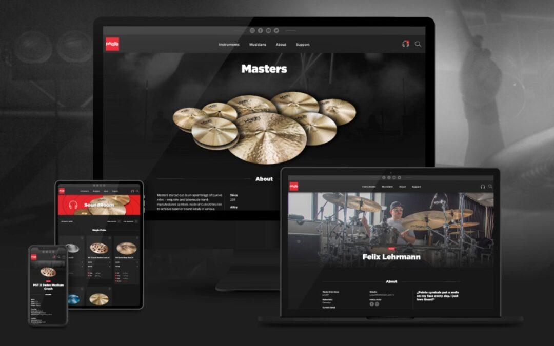 New Paiste.com website!
