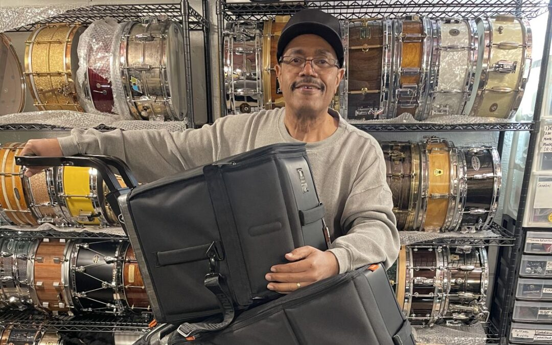 Dennis Chambers Endorses Gruv Gear VELOC Drum Bags & Cart