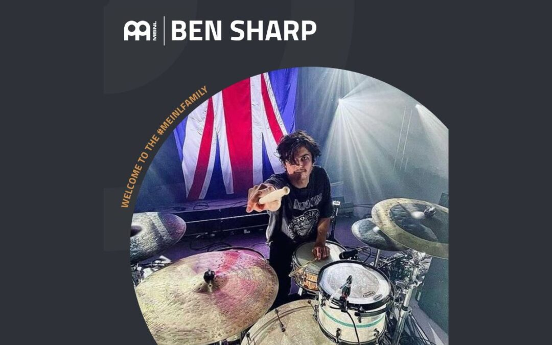 Ben Sharp endorses Meinl Cymbals