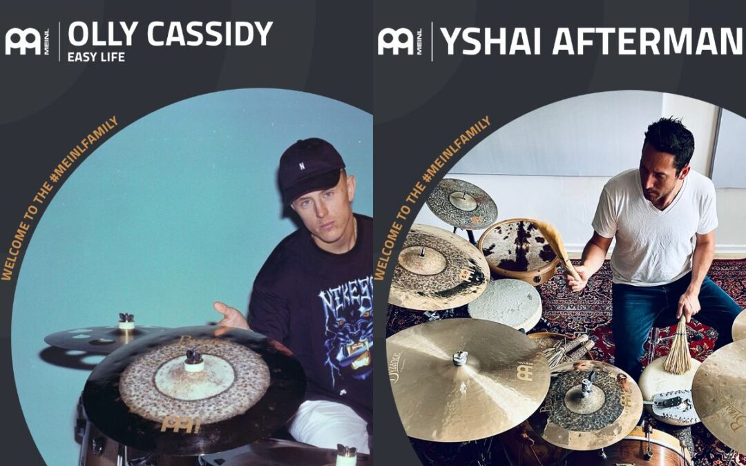 Yshai Afterman and Olly Cassidy added to Meinl Cymbals family